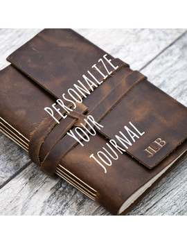 Personalized Premium Leather Journal Notebook Or Sketchbook | Rustic Brown, Saddle Tan, Dark Brown by Etsy
