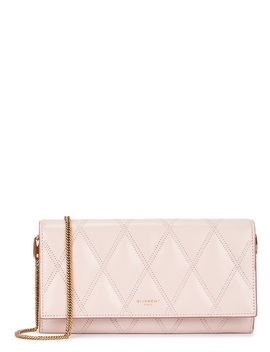 Gv3 Pink Leather Wallet On Chain by Givenchy