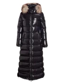 Hudson Lacquer Fox Fur Trim Puffer Coat by Moncler
