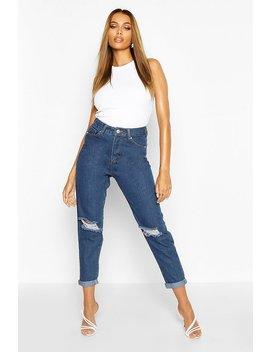 Mid Rise Boyfriend Jeans by Boohoo