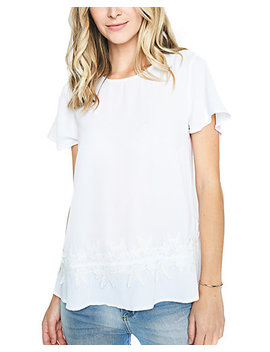 Sugarlips Amiel Lace Trim Knit Top by Sugarlips