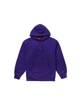 Supreme Micro Logo Hooded Sweatshirt Purple by Stock X