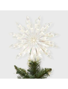 """13.5"""" Lit Acrylic Starburst Tree Topper White   Wondershop™ by Shop This Collection"""