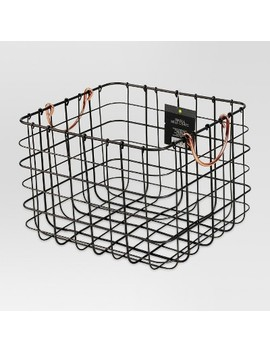 Small Milk Crate With Copper Handles   Threshold™ by Shop Collections