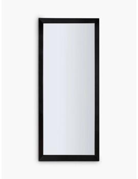 Melanie Leaner Mirror, 178 X 76cm, Black by Unbranded