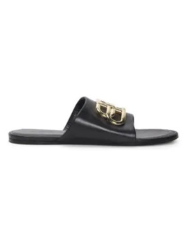 Oval Bb Leather Sandals by Balenciaga