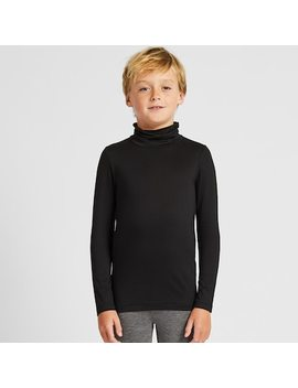 Kids Heattech Jersey Turtleneck Thermal Top by Uniqlo