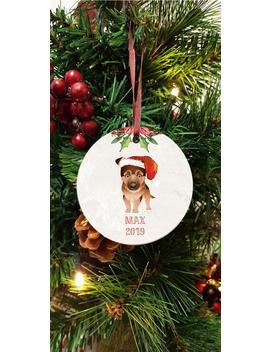Personalised Christmas Tree Dog Decoration German Shepherd Alsatian Ceramic Hanging Ornament Cute Pet Dog Name Memorial Memory Deco by Etsy