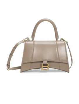 Small Hourglass Leather Top Handle Bag by Balenciaga
