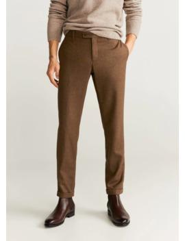 Pantalon Premium Laine Vierge by Mango