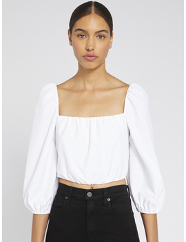 Alta Peasant Crop Top by Alice And Olivia