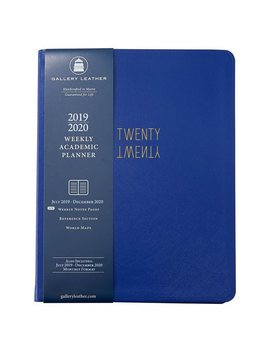 2019 2020 18 Month Weekly Academic Planner Bright Blue by Gallery Leather