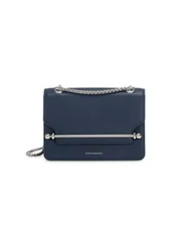 Mini East/West Leather Crossbody Bag by Strathberry