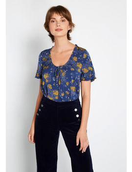 A Nice Touch Short Sleeve Top by Modcloth