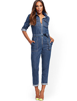 Denim Jumpsuit   Blessed Blue by New York & Company