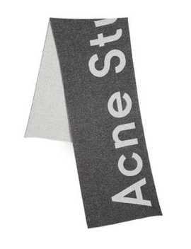 Toronty Logo Wool Blend Scarf by Acne Studios