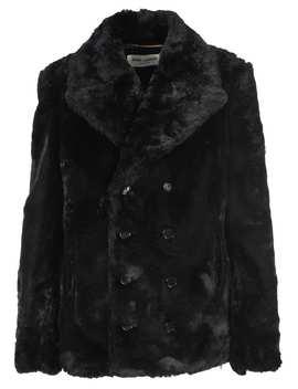 Saint Laurent Faux Fur Coat by Saint Laurent