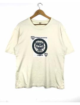 Rarität!!! Mcm Tshirt Mcm Legare Großes Logo Multicolor Pullover Pullover Sweatshirt Activewear Streetwear Shirt by Etsy