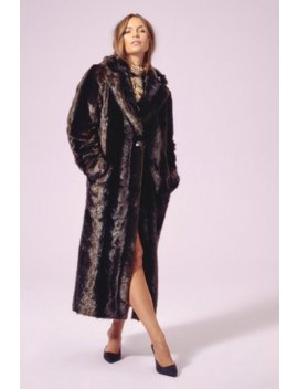 Hundred Miles Fur Hour Faux Fur Longline Coat by Nasty Gal