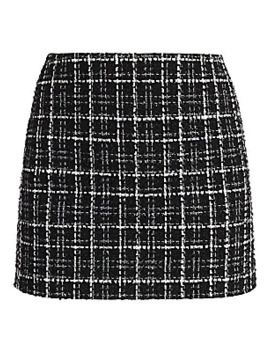 Elana Tweed Mini Skirt by Alice + Olivia