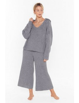 Knit Back And Relax Wide Leg Pyjama Set by Nasty Gal