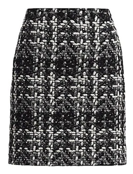 Sparkle Tweed Mini Pencil Skirt by Akris Punto