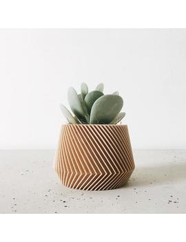 Indoor Wood Plant Pot   Geometric & Minimalistic Design   Oslo   Original Planter Gift ! Thanksgiving Gift by Etsy