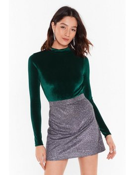 Smooth On Fast Velvet Cut Out Bodysuit by Nasty Gal