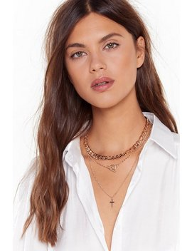 Cross In The Moment Layered Necklace by Nasty Gal