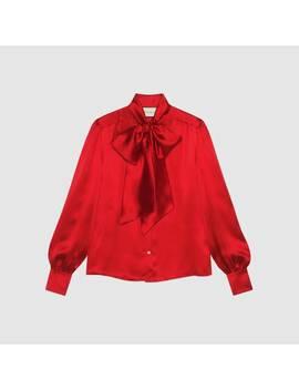 Camicia In Satin Con Fiocco by Gucci