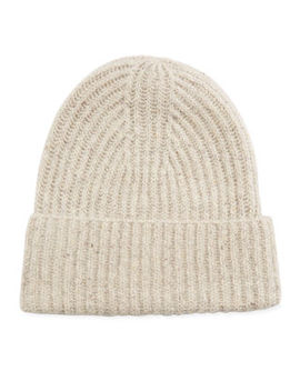 Cashmere Ribbed Beanie Hat by Vince