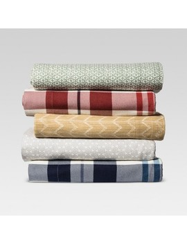 Printed Flannel Sheet Set   Threshold™ by Shop Collections
