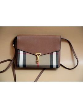 Burberry 'small Macken' Check Crossbody Bag Retail $1,095 by Burberry