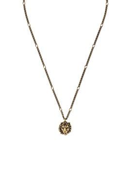 Lion Head Pendant Necklace by Gucci