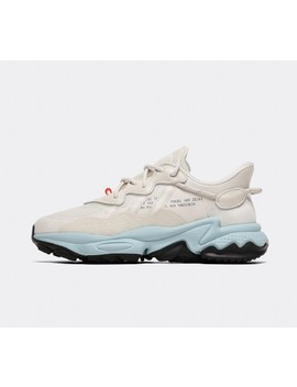 Womens Ozweego Trainer | Raw White / Off White by Adidas Originals