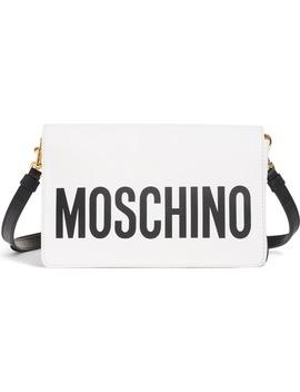 Logo Leather Crossbody Bag by Moschino