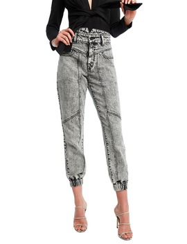 Acid Wash Splice Jeans by Bardot