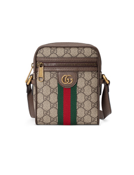 Ophidia Gg Shoulder Bag In Beige Ebony & Green & Red by Gucci