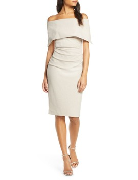 Popover Off The Shoulder Cocktail Dress by Vince Camuto