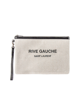 Rive Gauche Beach Pouch by Saint Laurent