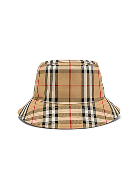 Heavy Cotton Check Bucket Hat by Burberry