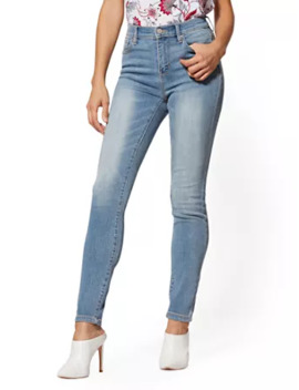 Tall High Waisted Super  Skinny Jeans   Blue Splash by New York & Company