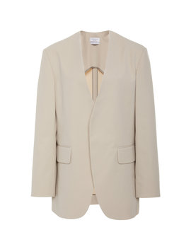 Oversized Twill Blazer by Deveaux