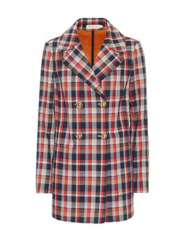 Checked Cotton Blend Blazer by Tory Burch