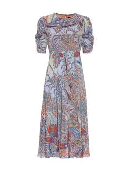 Printed Silk Midi Dress by Etro