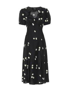 The Love Floral Silk Midi Dress by Marc Jacobs