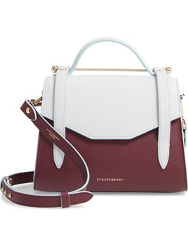Mini Bicolor Allegro Calfskin Leather Tote by Strathberry