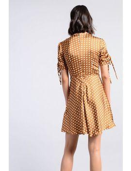 **Gepunktetes Kleid Mit Knopfleiste Von Glamorous by Topshop