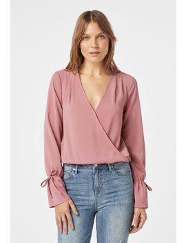 Wrap Front Blouse by Justfab