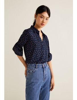 Relaxed Printed Button Down Shirt by Justfab